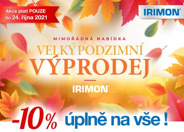 IRIMON Velký podzimní výprodej 10 % na celý sortiment